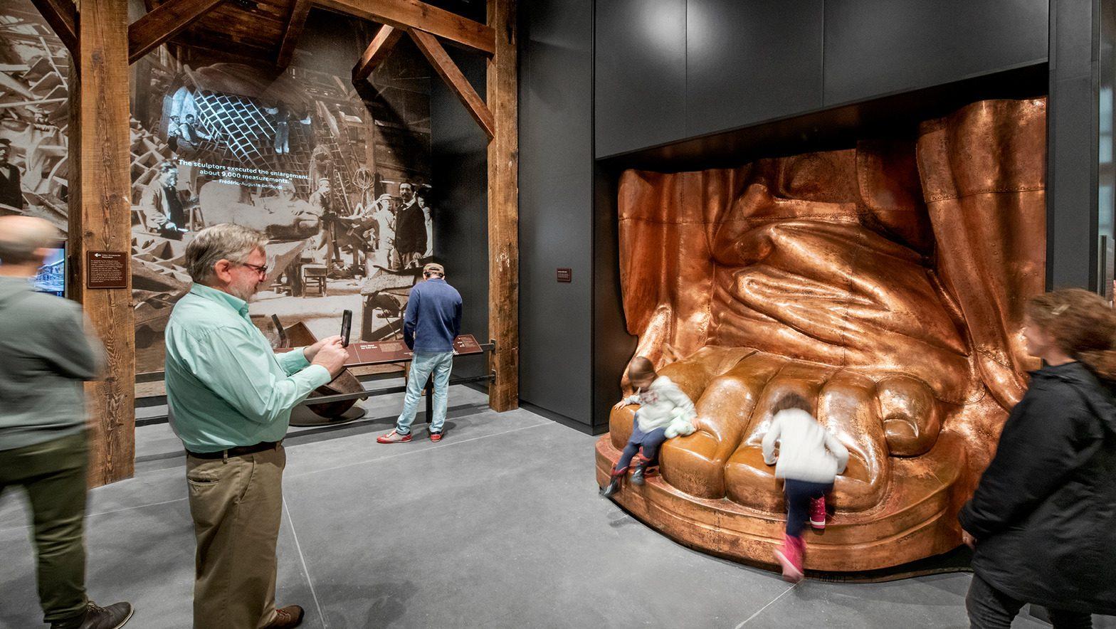 Statue of Liberty Museum interior.