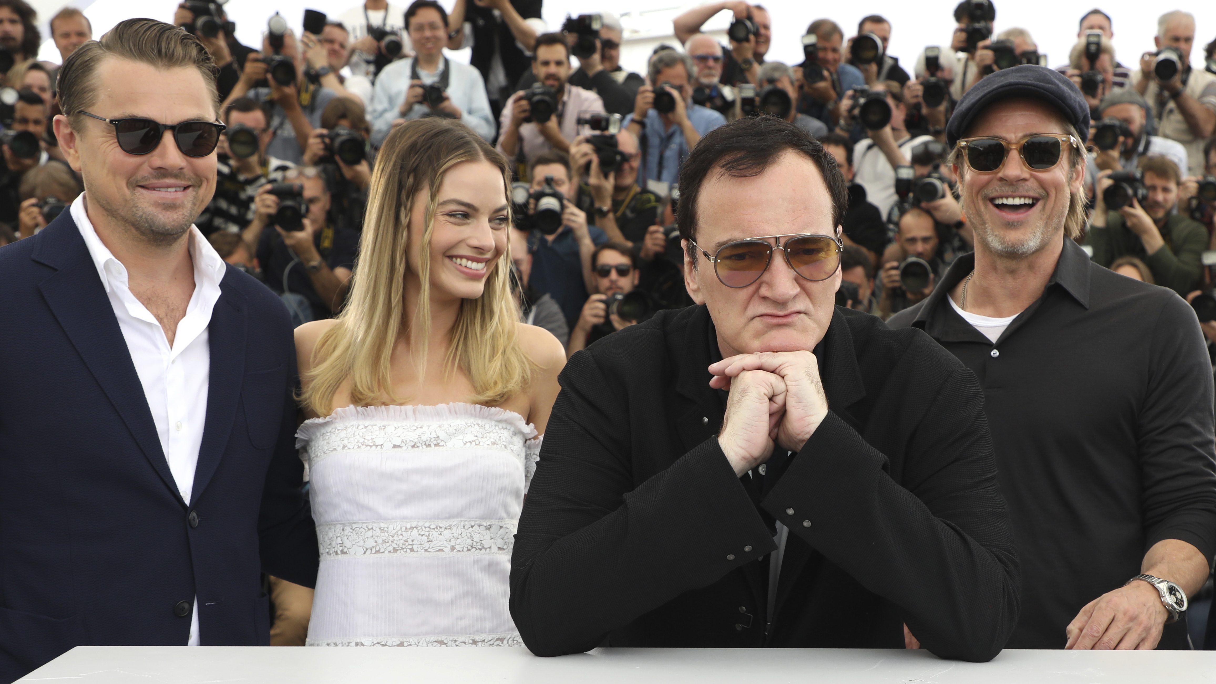 Leonardo DiCaprio, Margot Robbie, Quentin Tarantino, Brad Pitt,