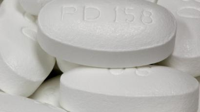 A close-up image of statin pills.