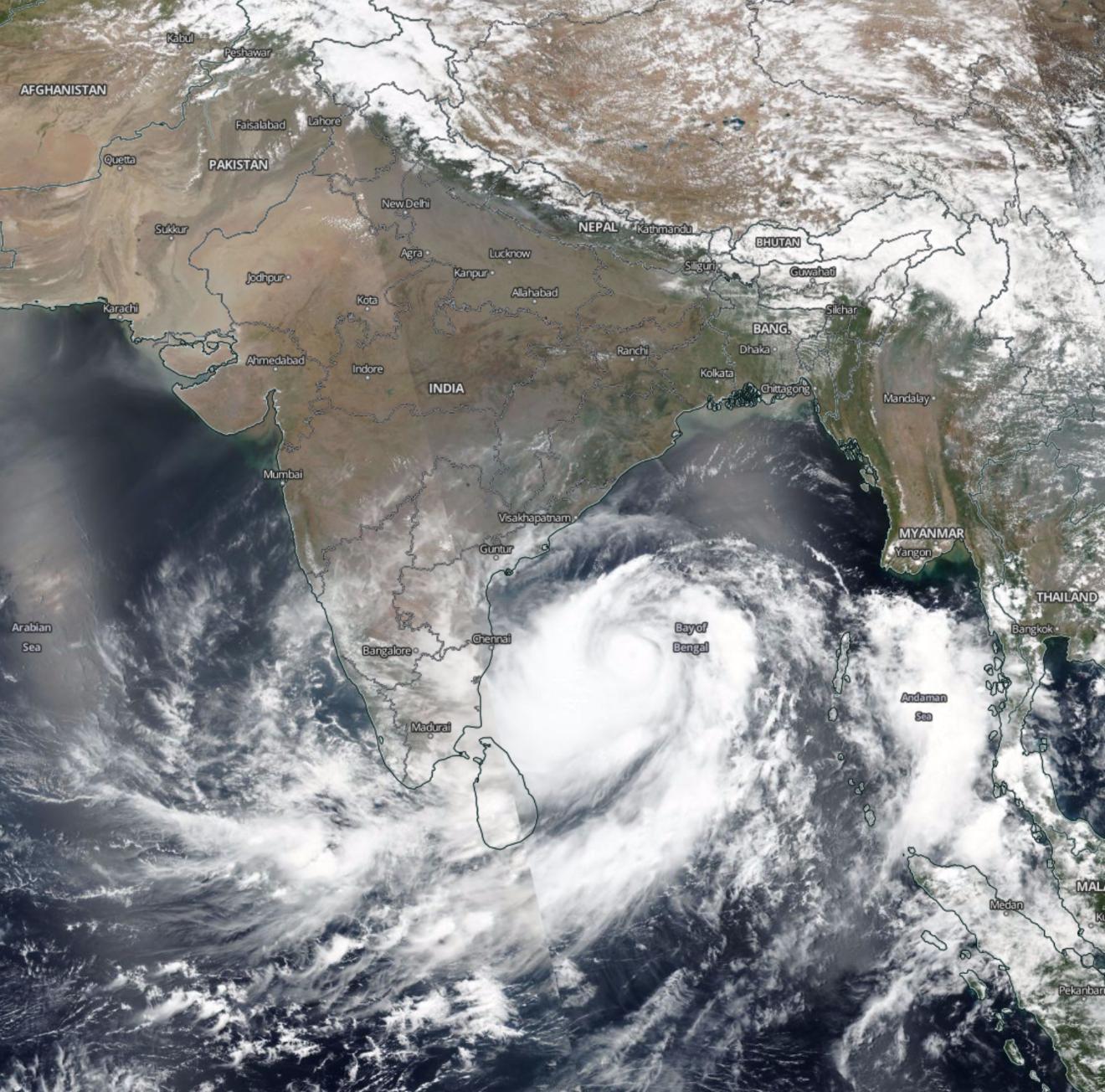 Cyclone Fani NASA