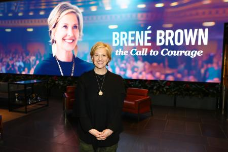 "LOS ANGELES, CALIFORNIA - APRIL 16: Brené Brown attends ""Brené Brown: The Call To Courage"" at NETFLIX on April 16, 2019 in Los Angeles, California. (Photo by Joe Scarnici/Getty Images for Netflix)"