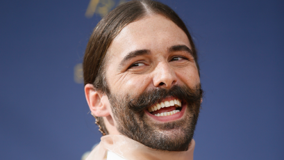 Jonathan Van Ness arrives at the 70th Primetime Emmy Awards on Monday, Sept. 17, 2018, at the Microsoft Theater in Los Angeles. (Photo by Danny Moloshok/Invision for the Television Academy/AP Images)