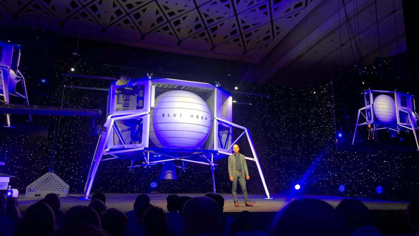 Jeff Bezos says Blue Origin will go to the moon to save ...
