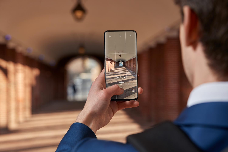 OnePlus 7 taking a photo