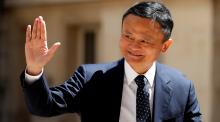 """Jack Ma at the """"Tech for Good"""" Summit in Paris May 15 2019"""