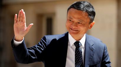 "Jack Ma at the ""Tech for Good"" Summit in Paris May 15 2019"