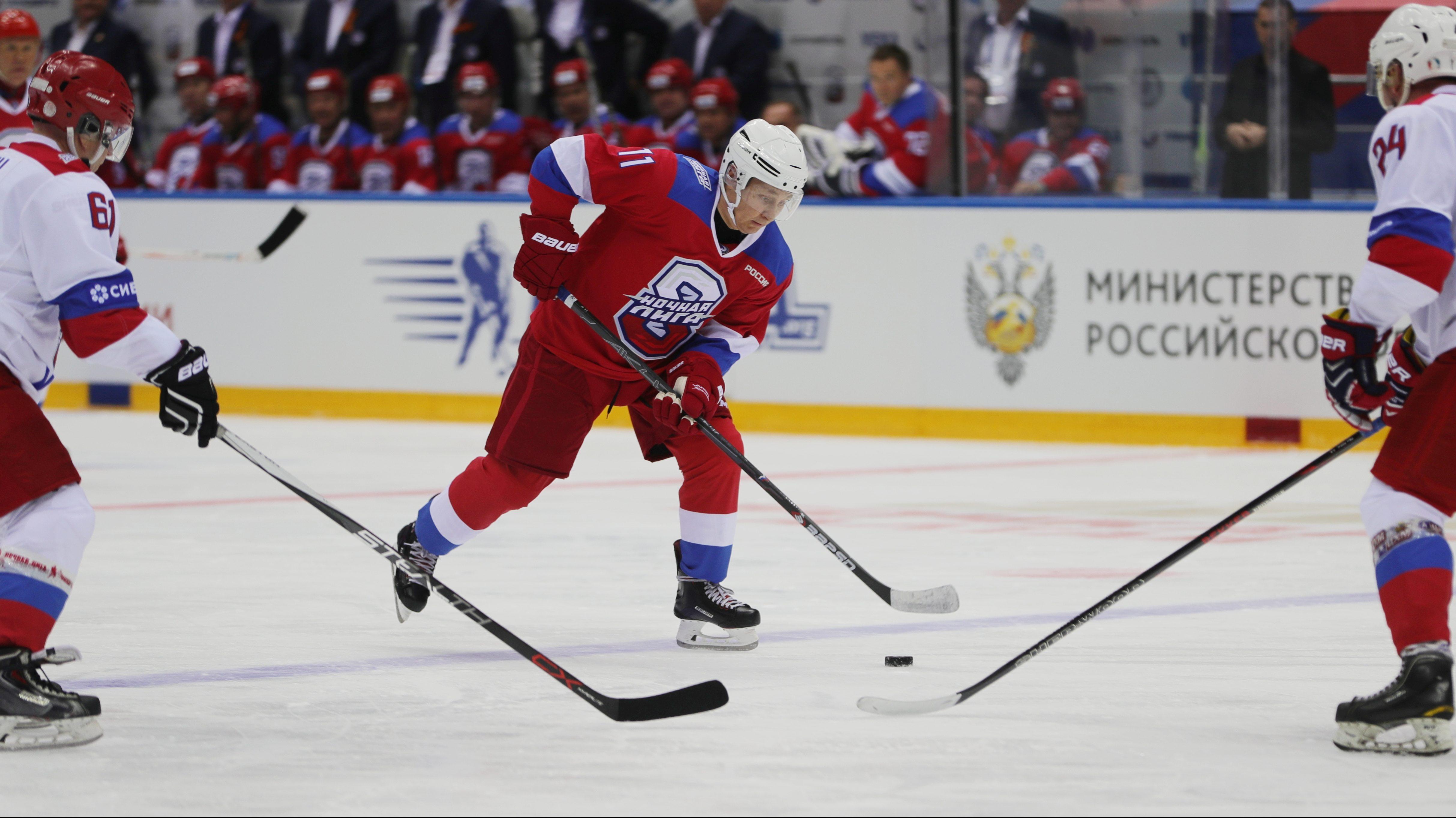 Vladimir Putin Is Playing The Best Hockey Of His Life At Age 66 Quartz