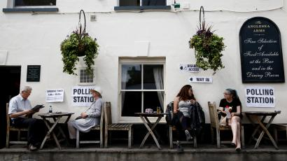 EU elections polling station