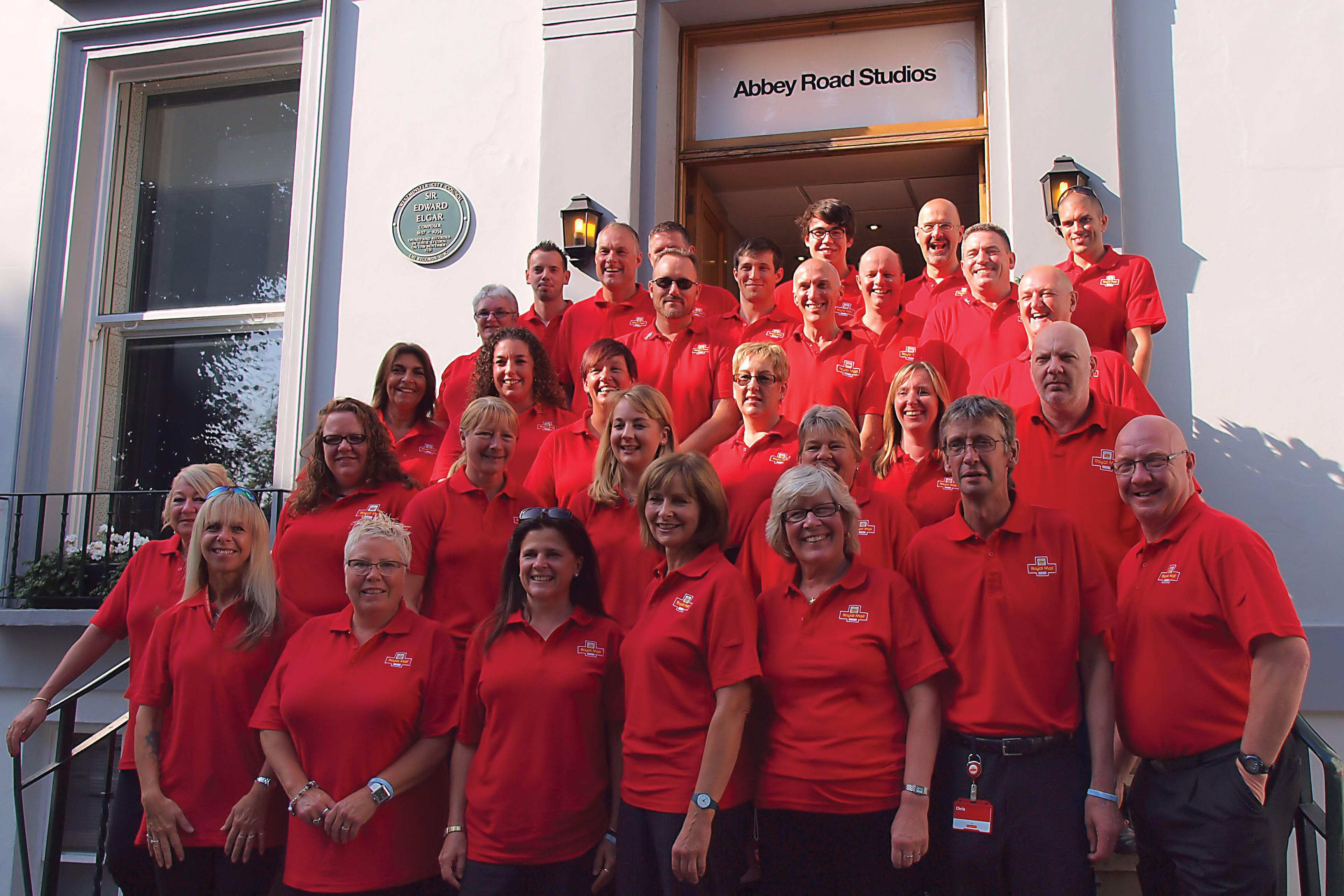 Bristol's Royal Mail choir.