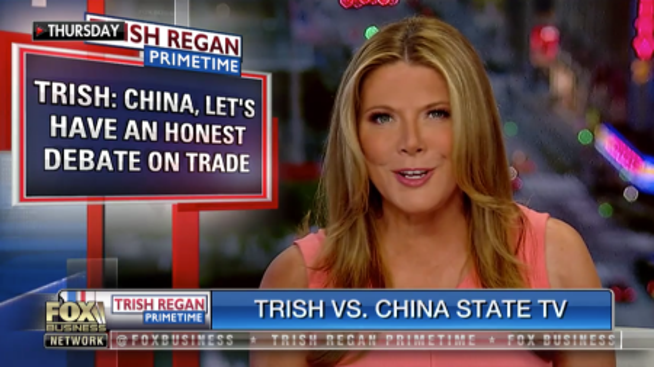 How to watch Fox's Trish Regan trade war debate with China's