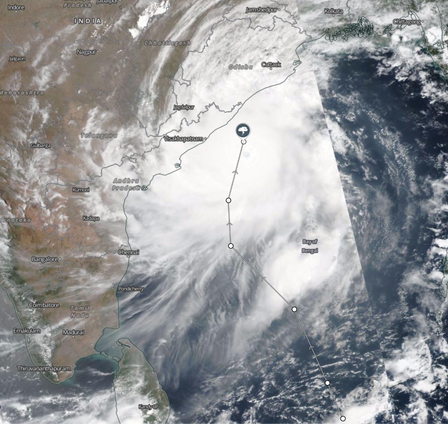 Cyclone Fani Odisha NASA