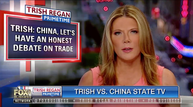 Fox anchor Trish Regan and CCTV's Liu Xin to debate trade war — Quartz