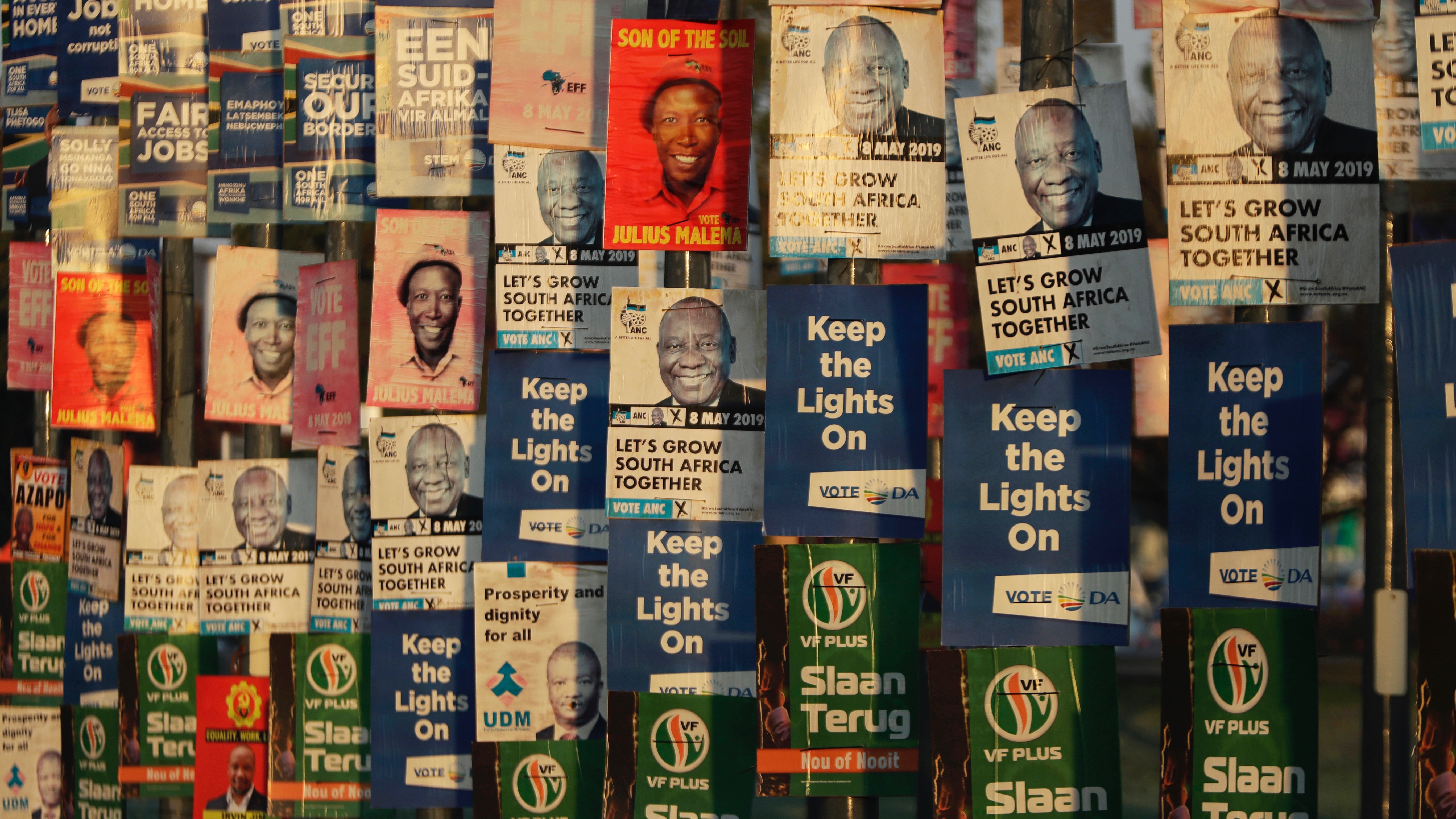 South Africa election result: right wing, left wing parties gain