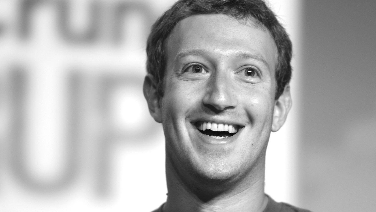 black and white Mark Zuckerberg