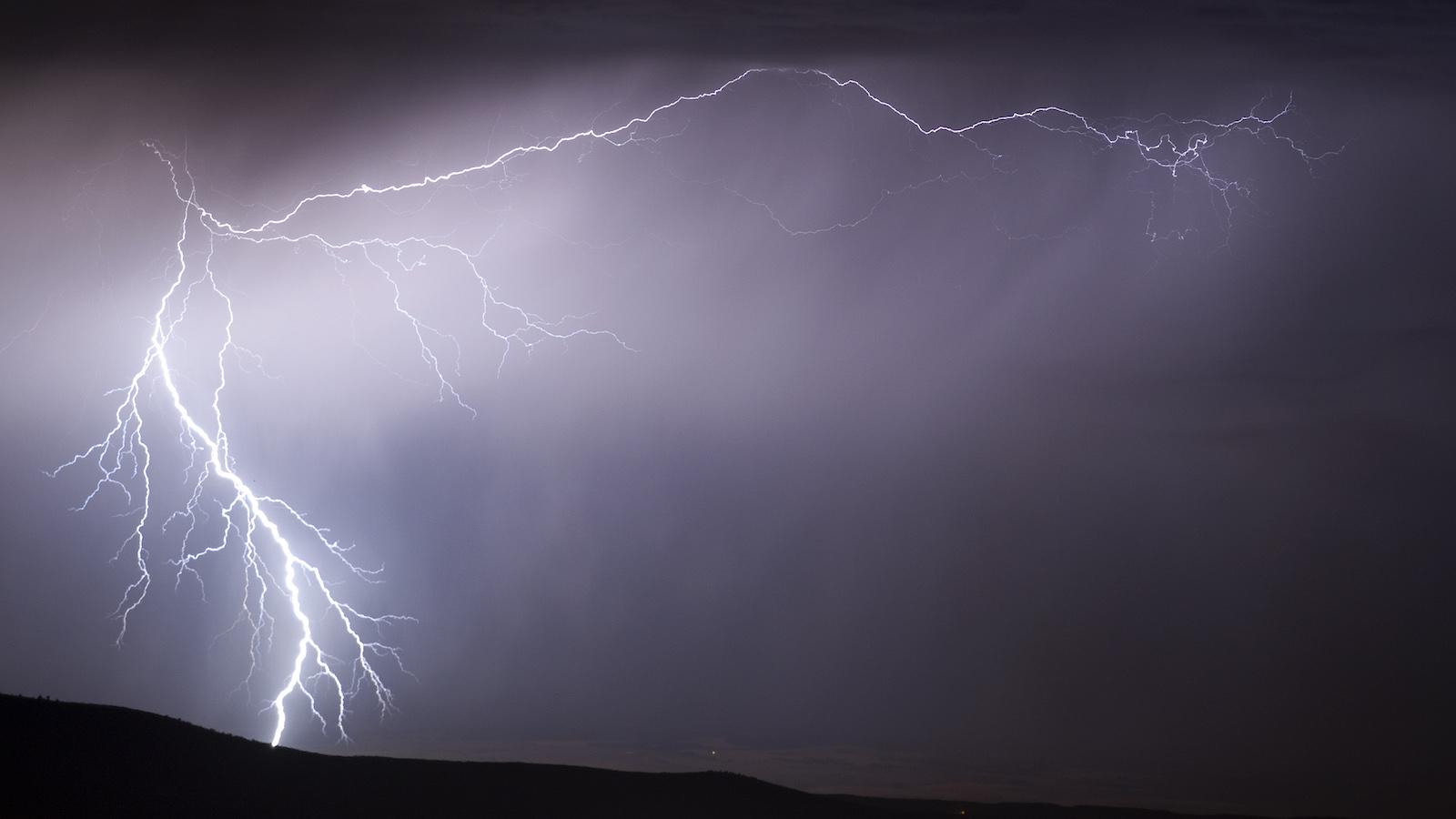 lightning bolt sky