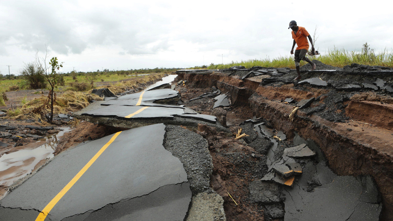 Mozambique cyclone damage