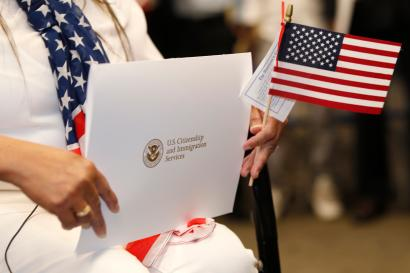 Take the oath and become a US citizen.