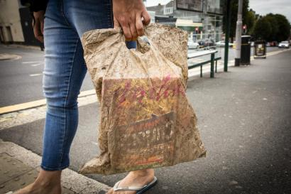 This bag was submerged in seawater for three years. It can still hold a load of shopping.
