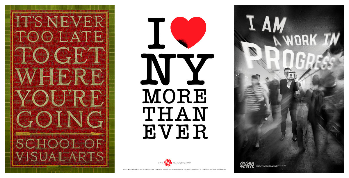 Iconic SVA posters from New York's subway