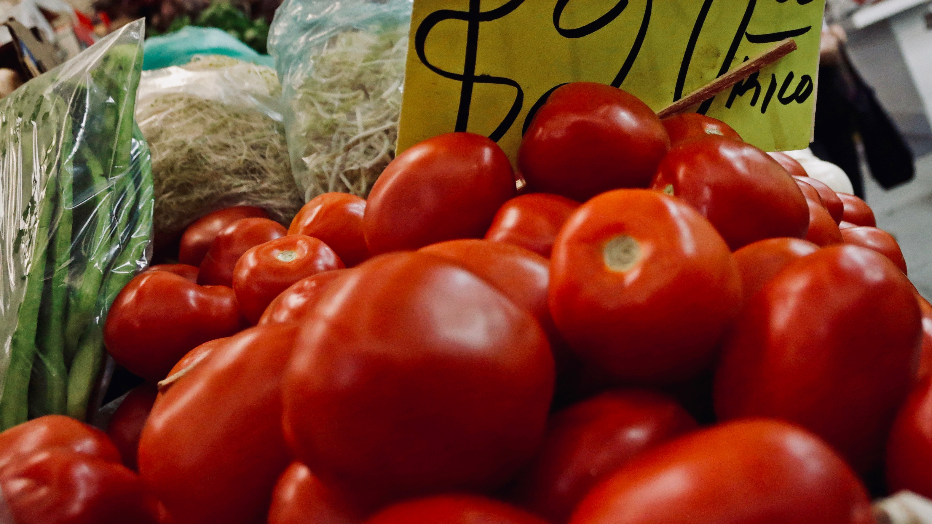 Tomatoes in a market in Mexico City.