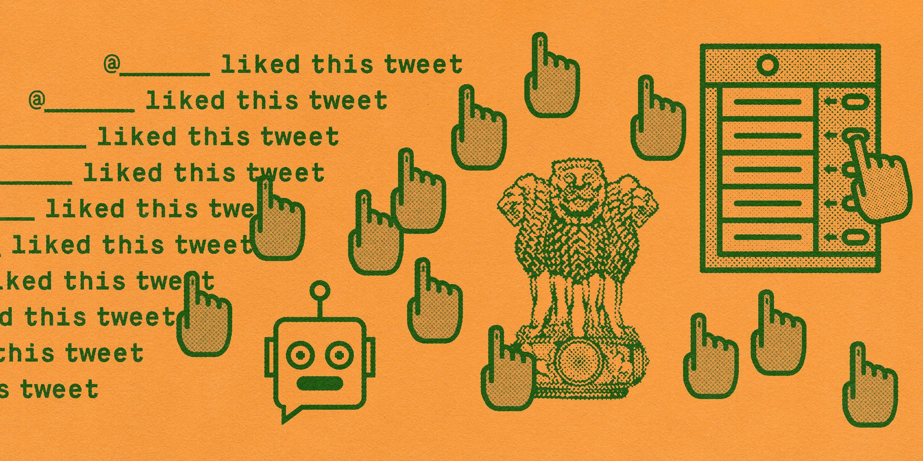 Symbols describing the India Political Watch Bot