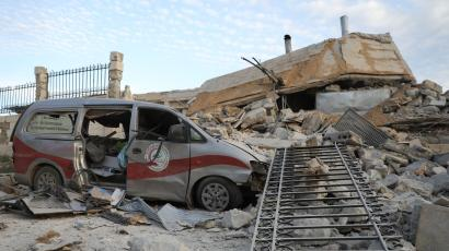 Destroyed hospital in Syria