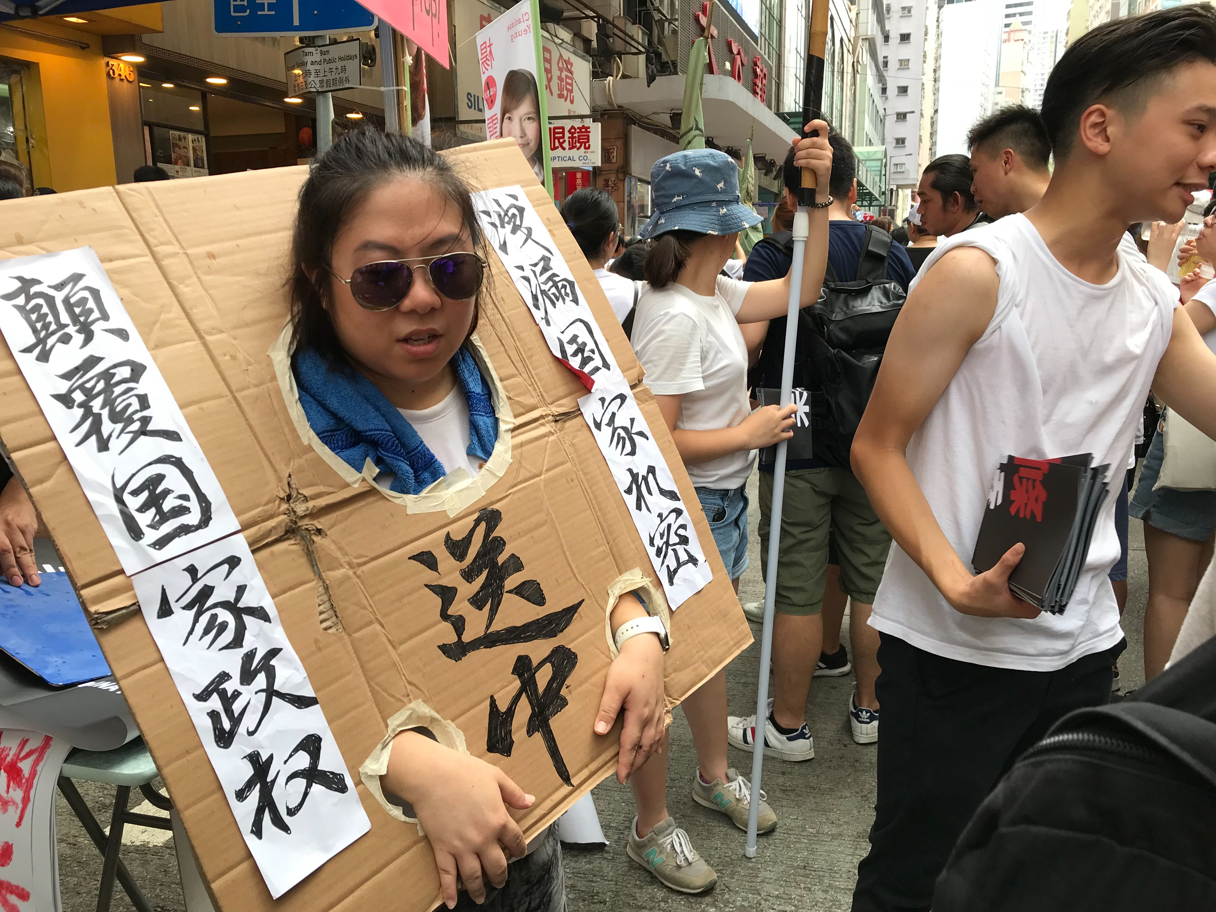 Hong Kong marches against allowing extradition to mainland China