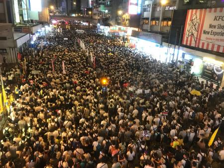 Hong Kong marches against allowing extradition to China