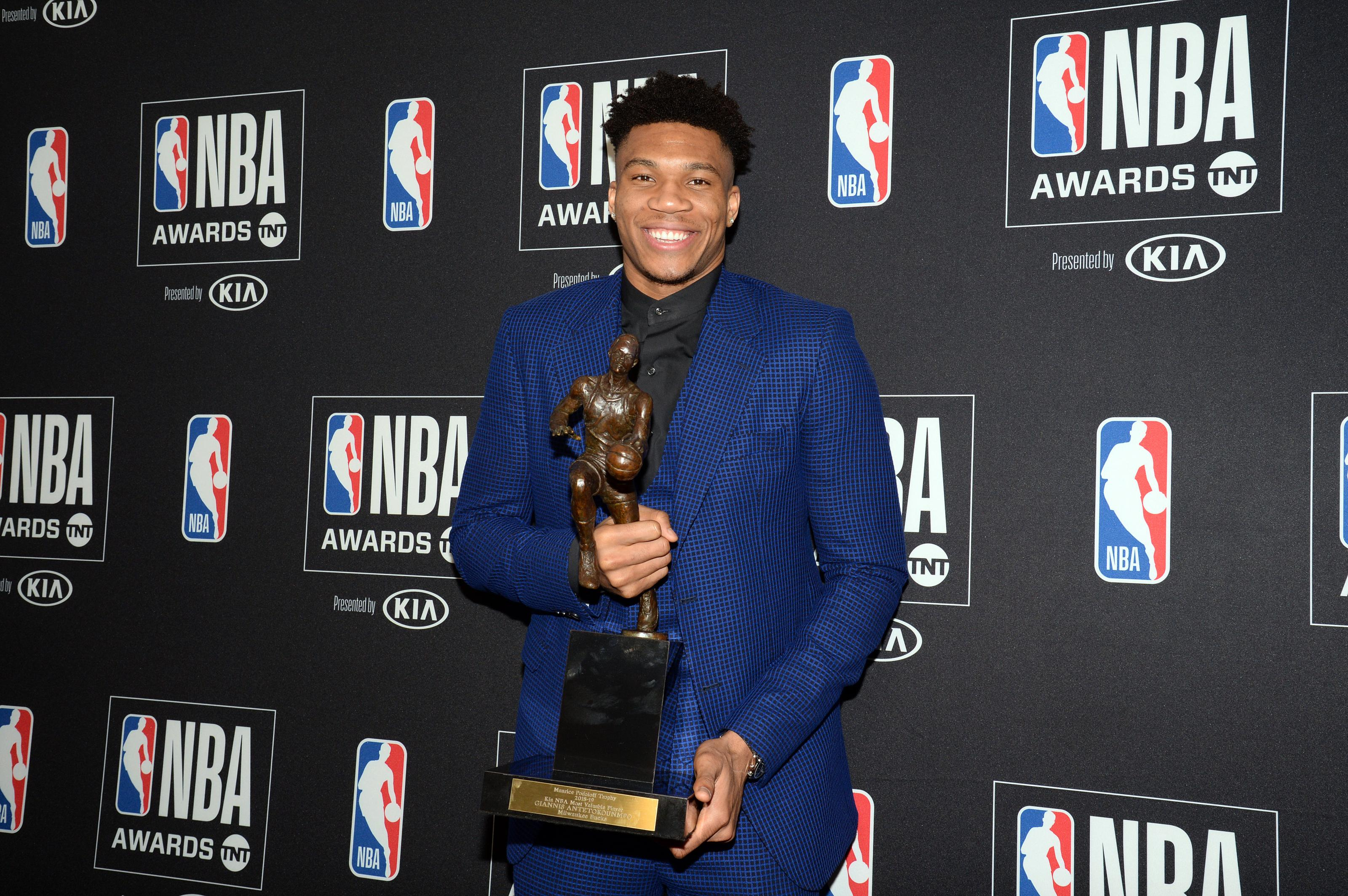 Giannis wins MVP, Pascal Siakam wins Most improved at NBA Awards