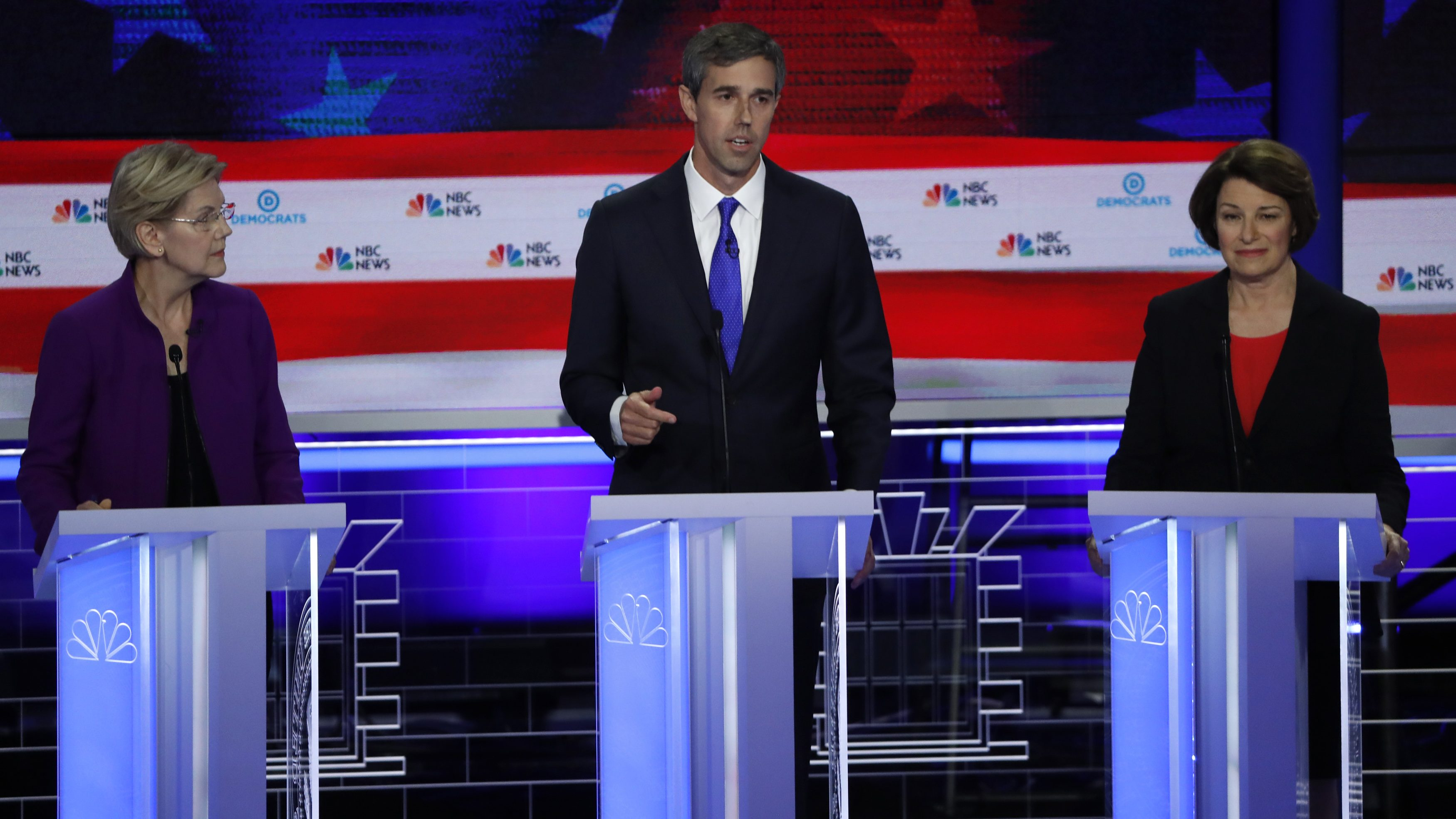 U.S. Rep. Beto O'Rourke speaks at the first U.S. 2020 presidential election Democratic candidates debate in Miami, Florida, U.S.,