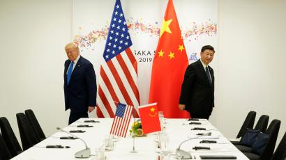 Donald Trump and Xi Jinping at the G20 leaders summit in Osaka