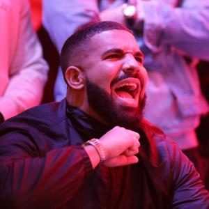 Drake reacts during the Toronto Raptors' victory in game 6 of the NBA finals