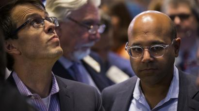 Wayfair CEO Niraj Shah (right) with the company's cofounder Steve Conine
