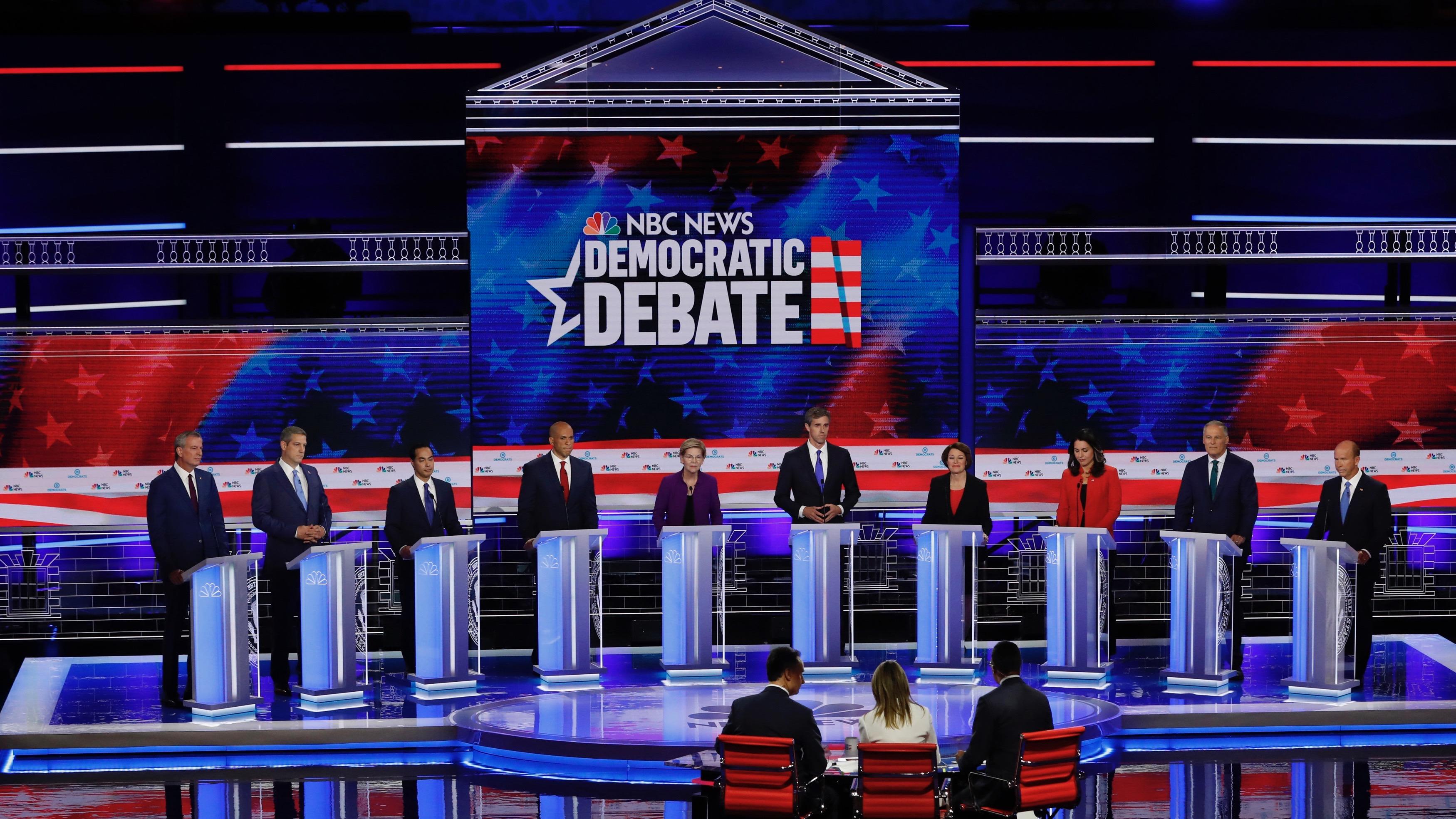 Democratic Primary Debate Candidates Name Greatest Threat