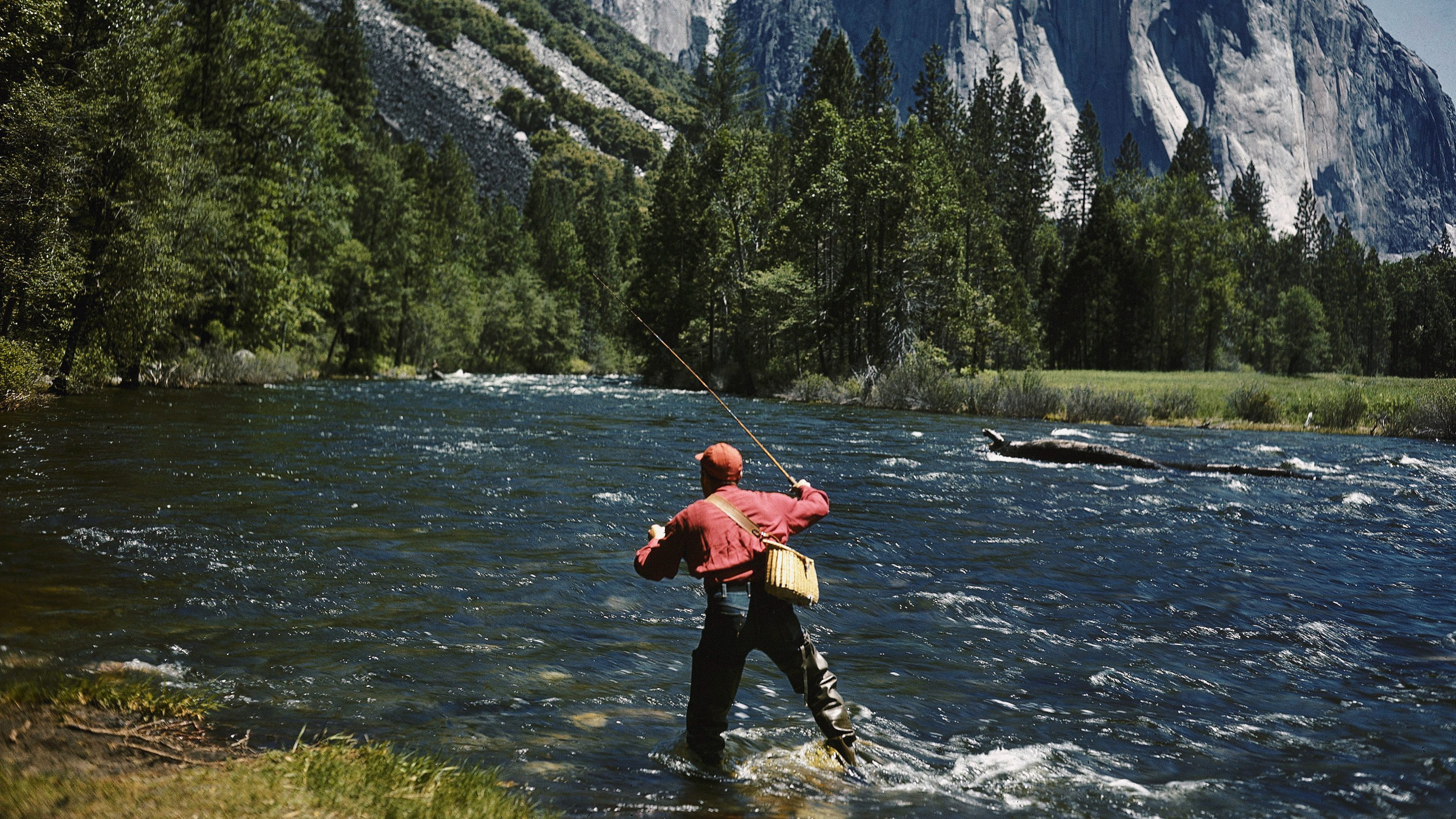 Fisherman in Yosemite National Park