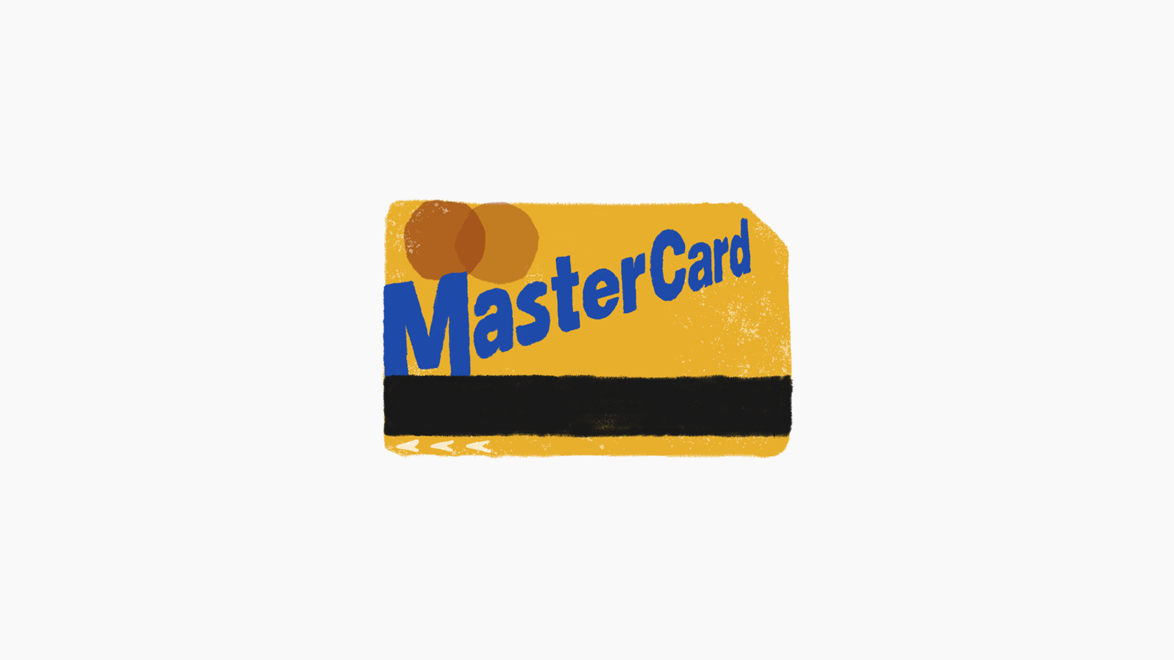 """An illustration of a NYC MTA Metrocard that says """"Mastercard"""" instead."""