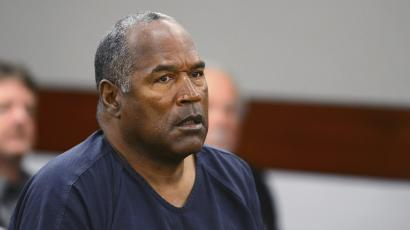 O.J. Simpson appears at an evidentiary hearing in Clark County District Court in Las Vegas.