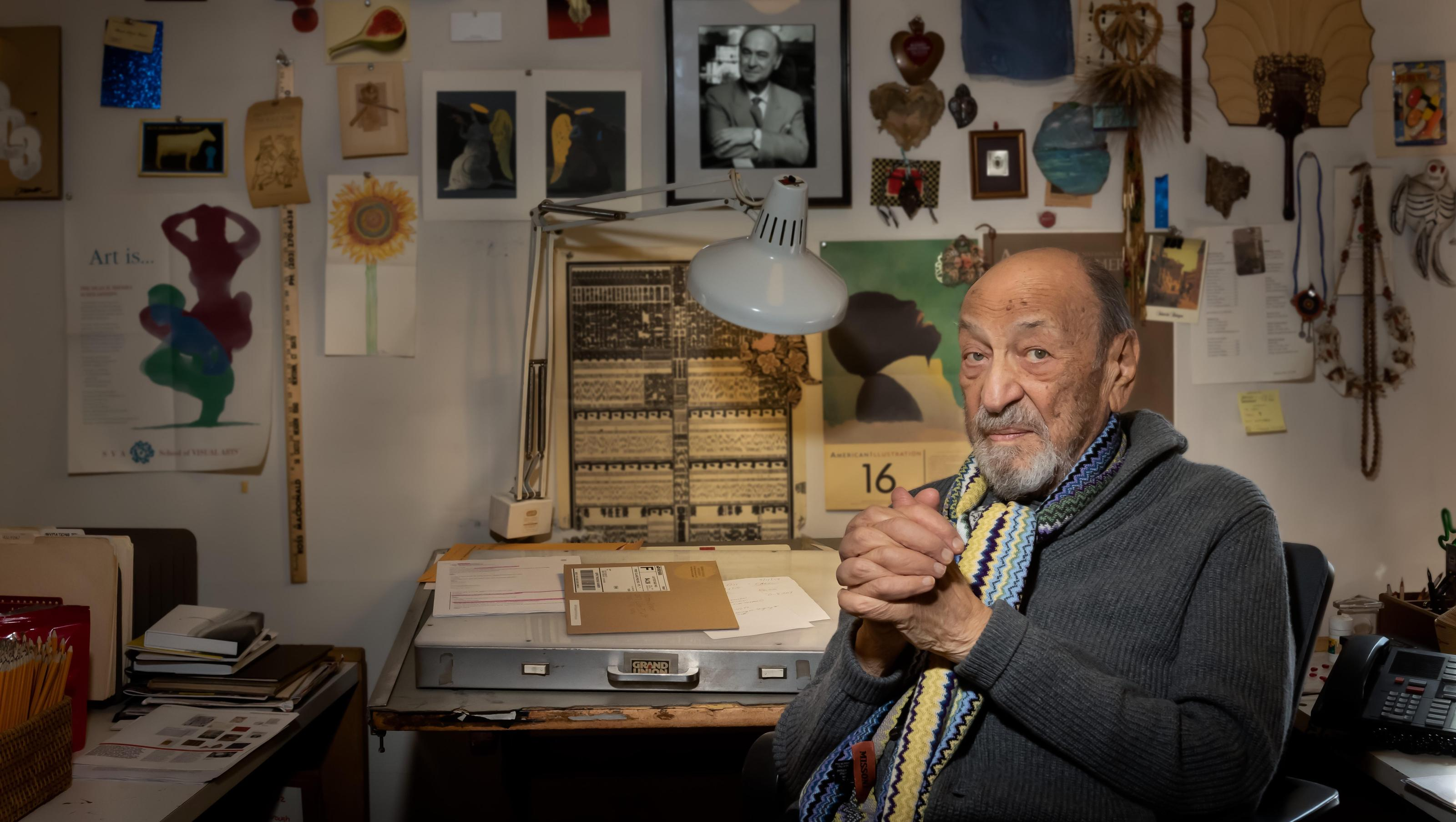 Milton Glaser is spending his 90th birthday doing what he loves most: working
