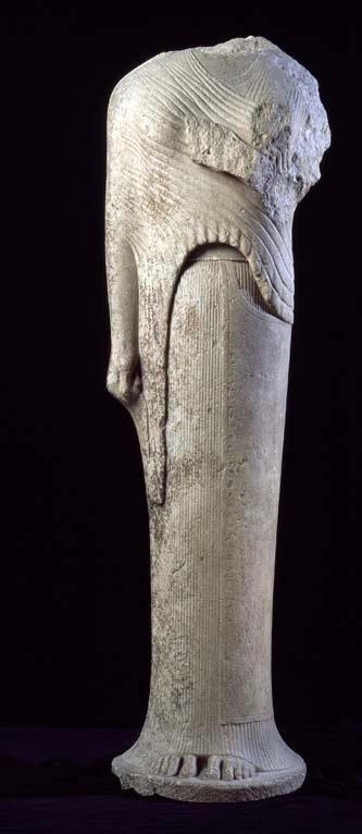 Dedication to Hera by Cheramyes, Samos (Louvre, c. 560 BCE).