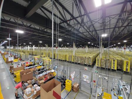 amazon warehouse shelves