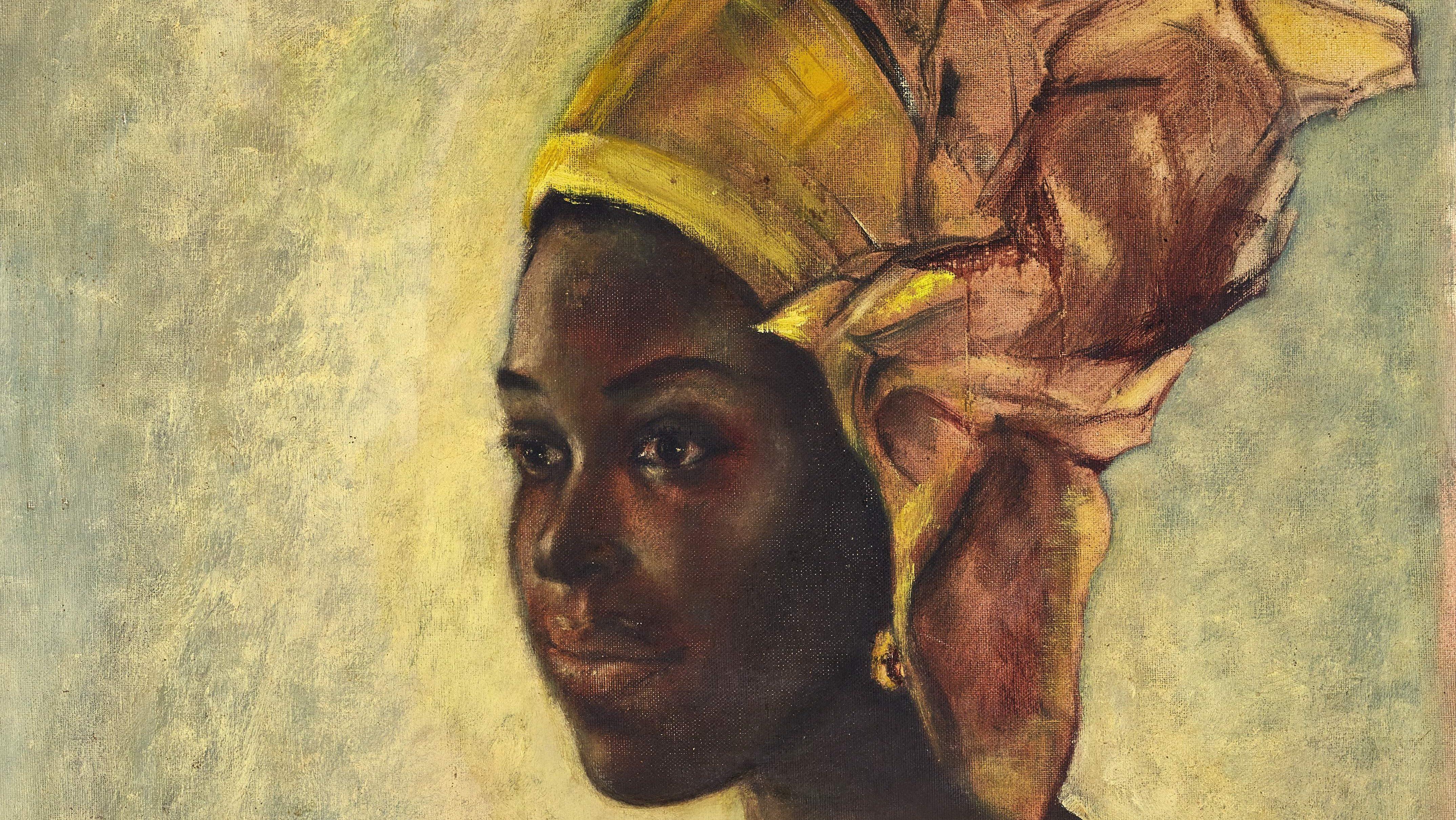 Nigerian Artist Ben Enwonwu S Discovered Portrait Worth