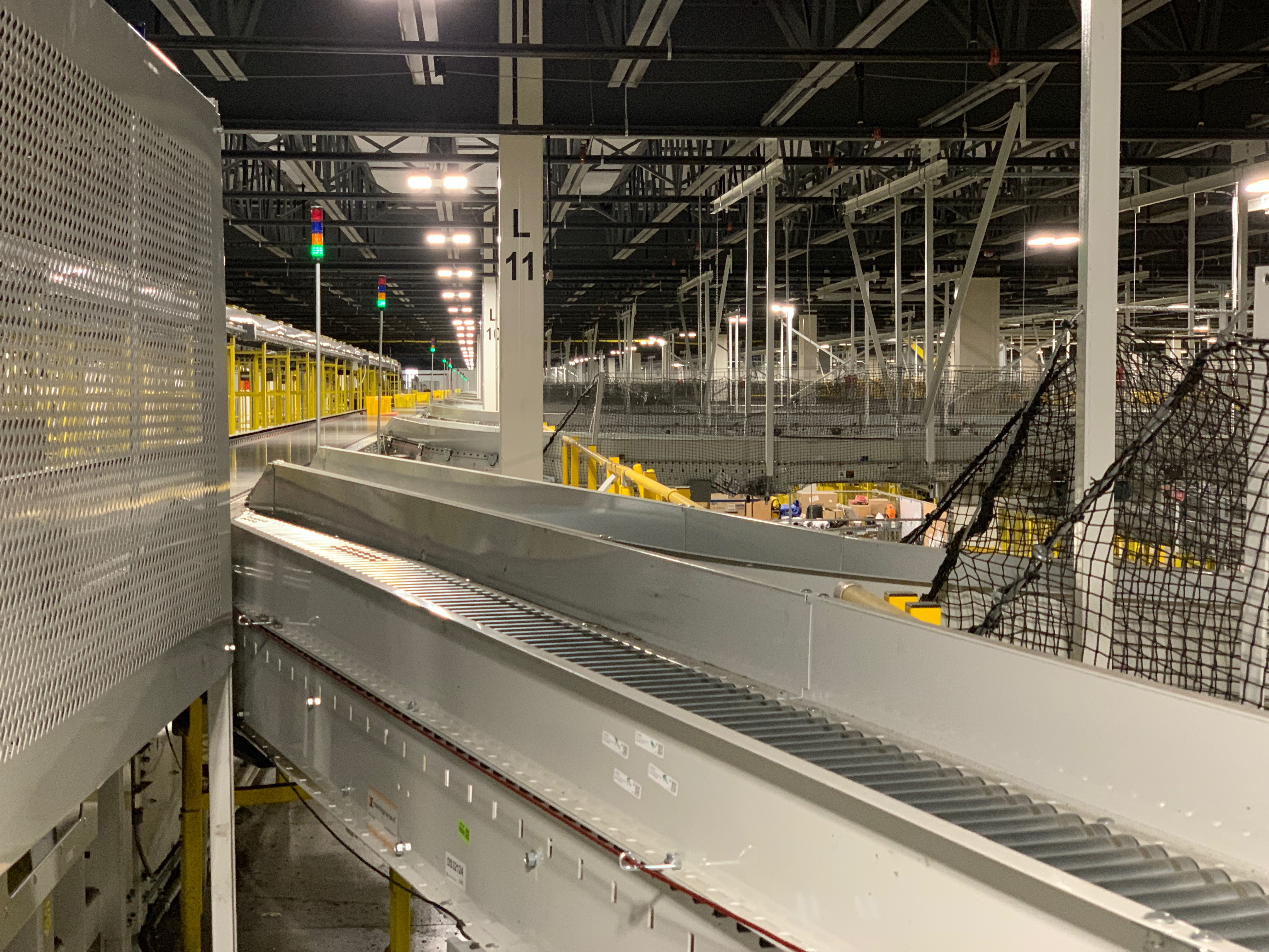 Amazon conveyor belt system