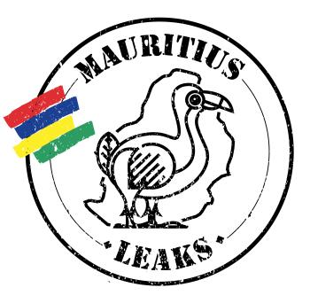 "Logo-type drawing of a Dodo bird with the text ""Mauritius Leaks"""