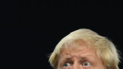 London Mayor Boris Johnson delivers his keynote speech at the Conservative Party conference in Birmingham, central England October 9, 2012.