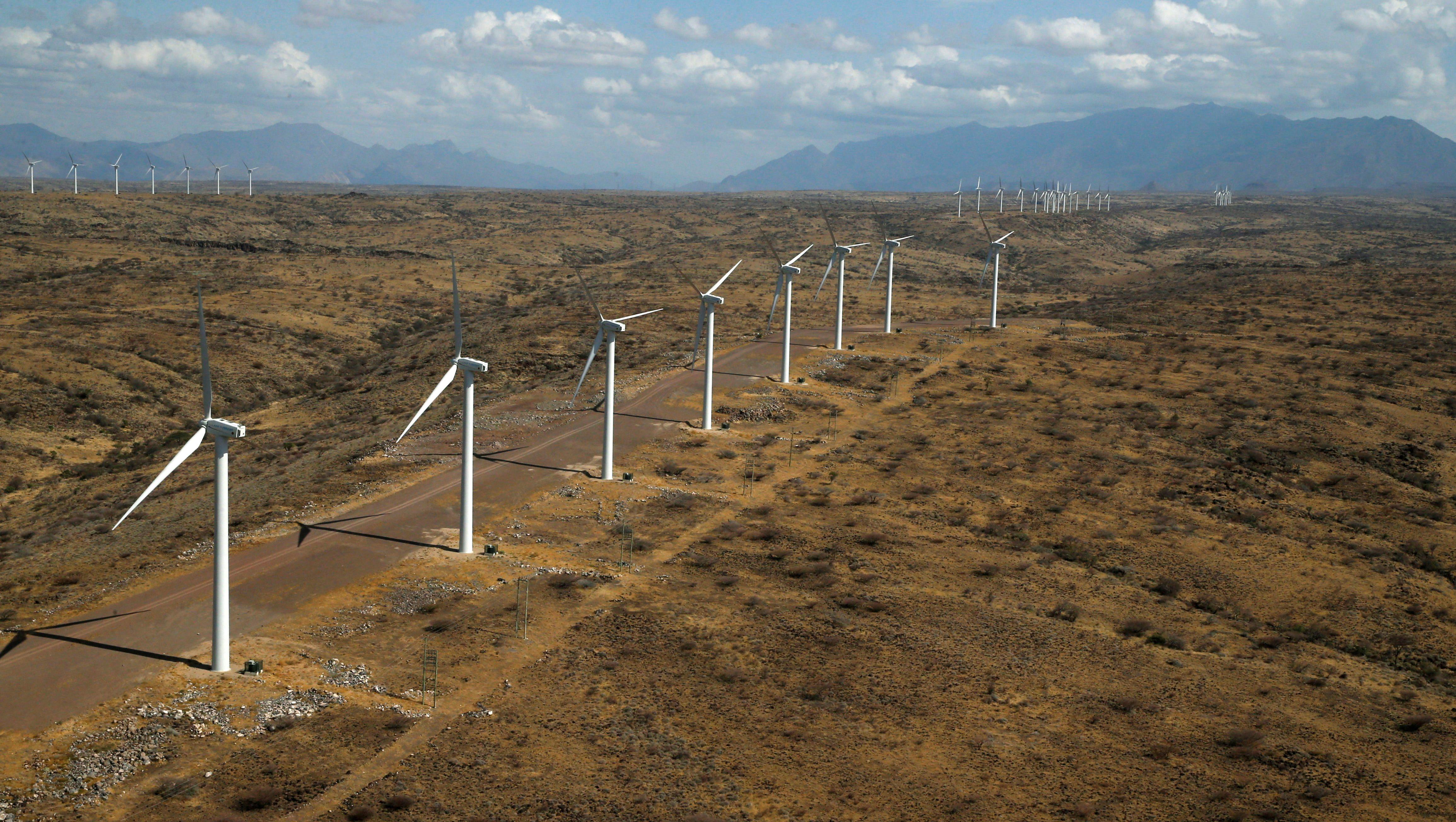 Kenya opens Africa's largest wind power project in Turkana