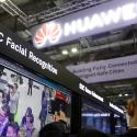 A Huawei employee showcases their facial recognition technology at their booth at Interpol World in Singapore July 2, 2019.