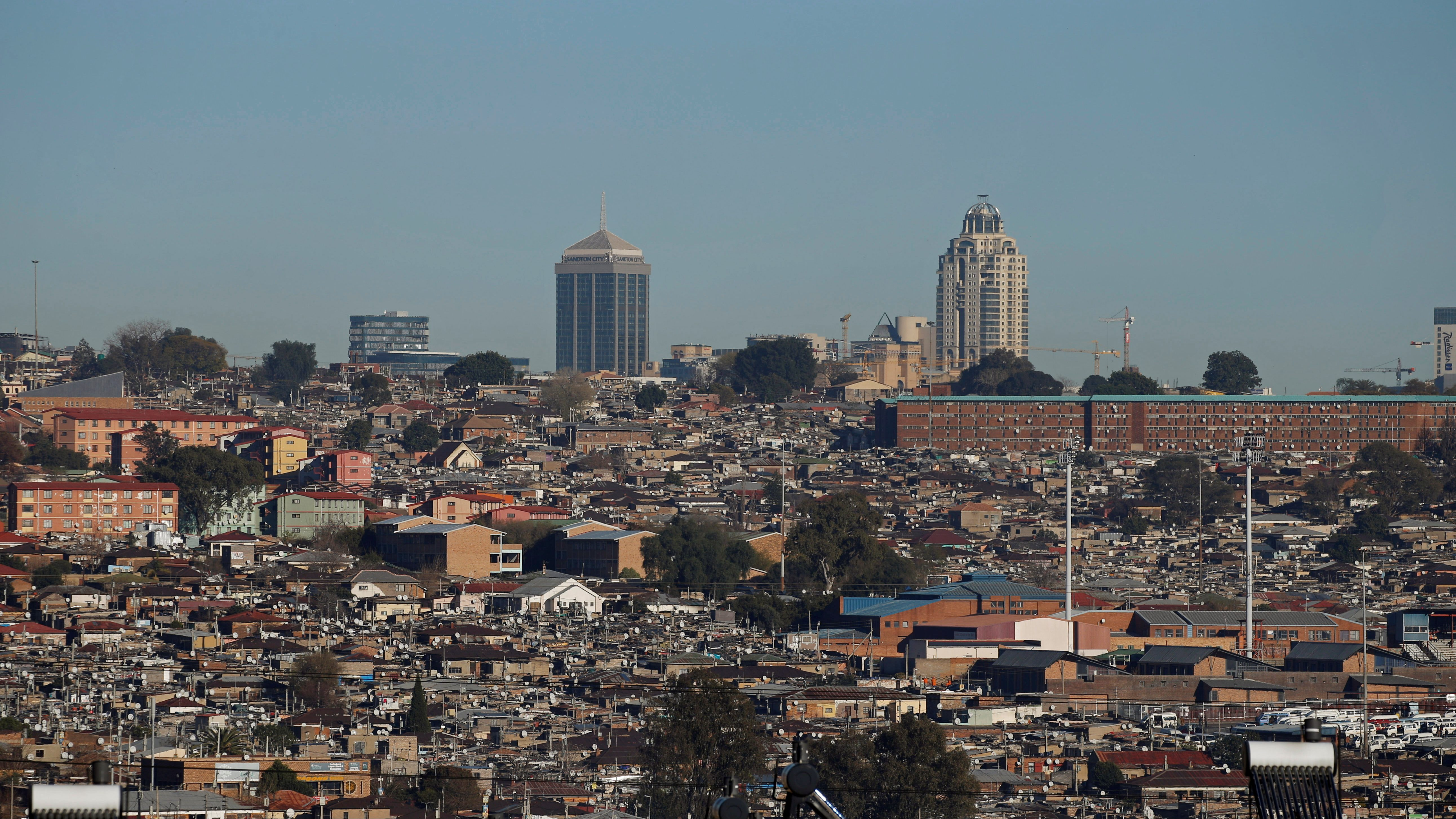 A view of Alexandra Township, an informal settlement in Johannesburg's suburbs for thousands of South Africans without a proper home