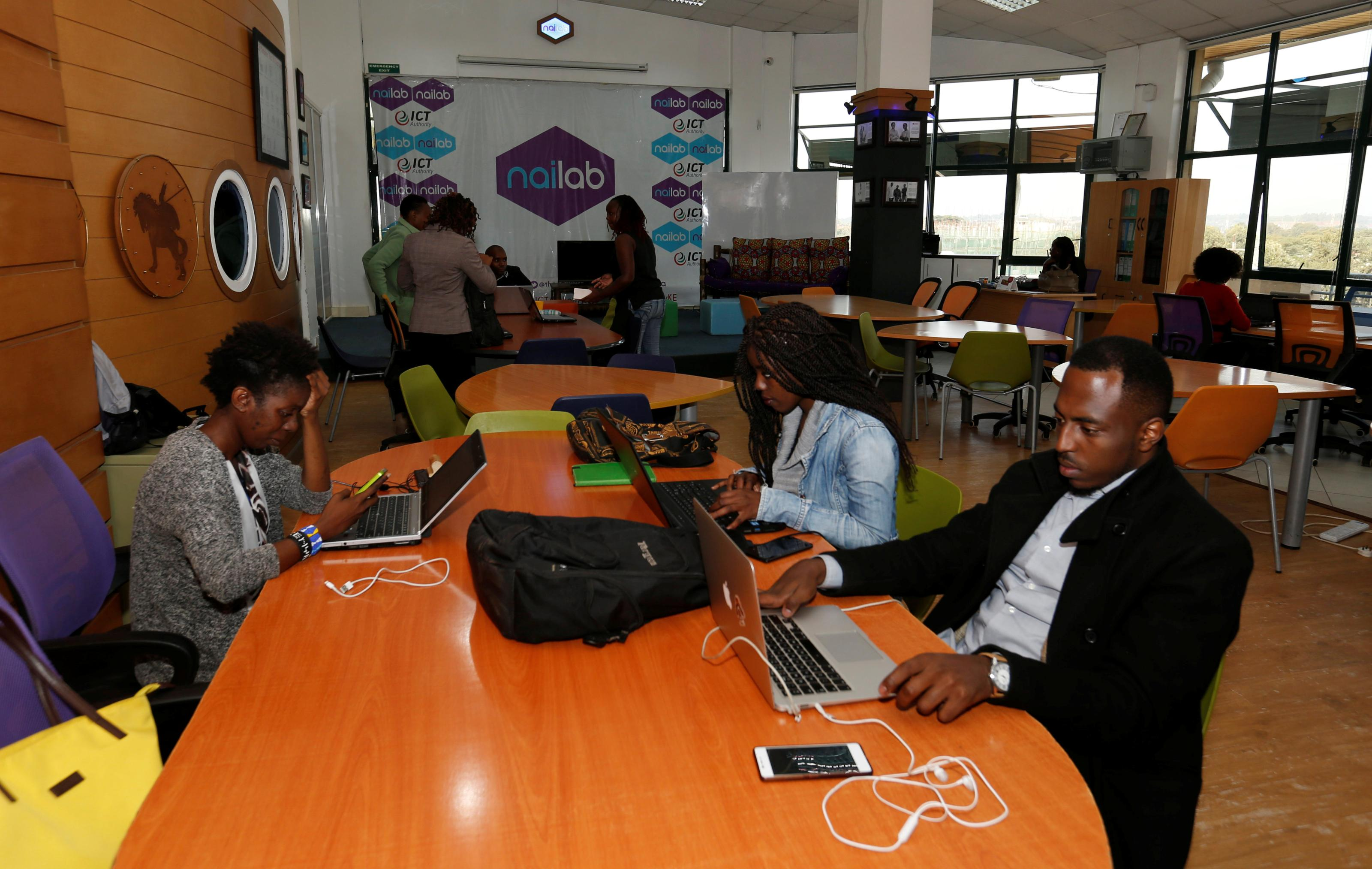How many tech hubs are in Africa?
