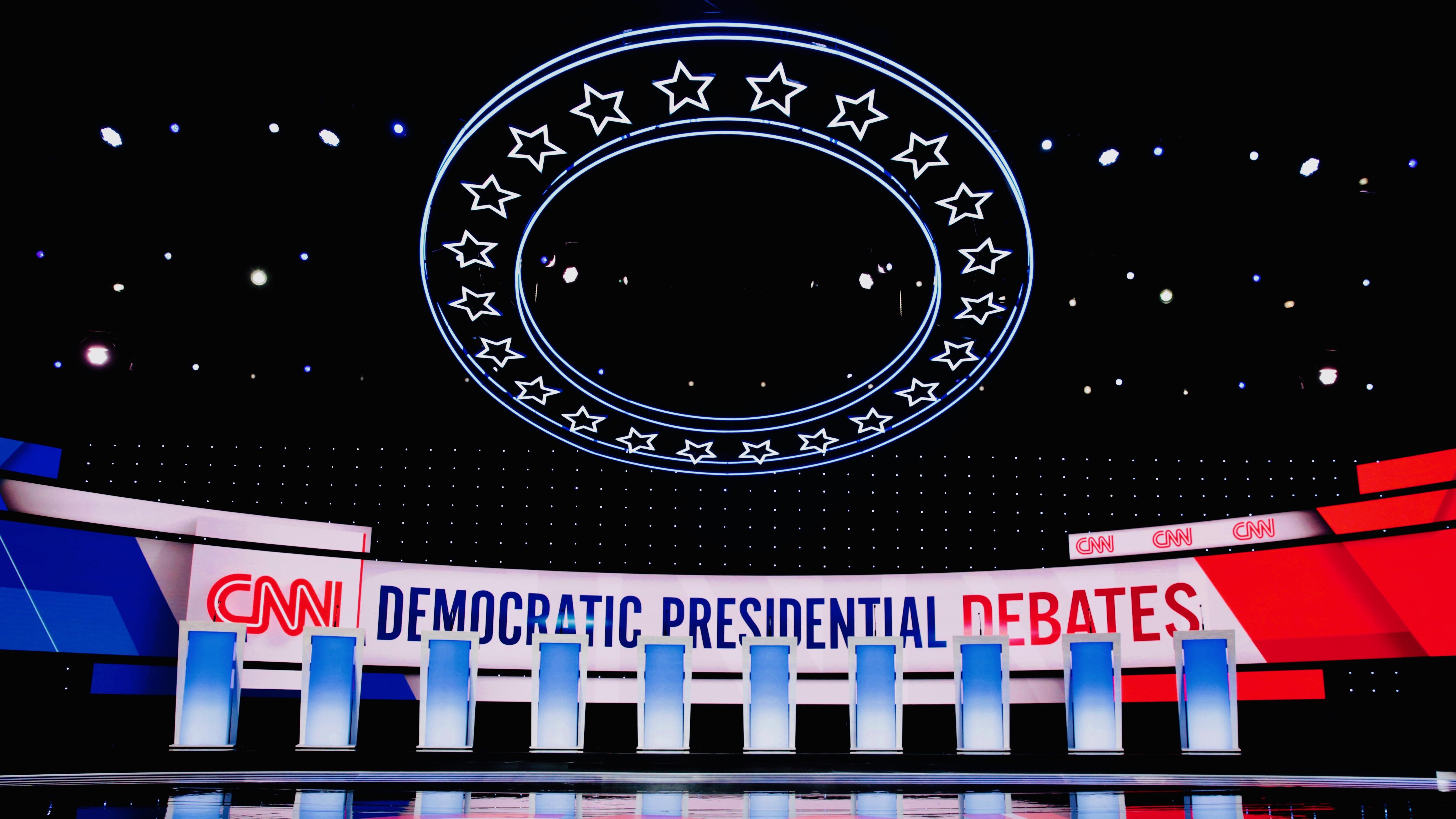 The debate stage.