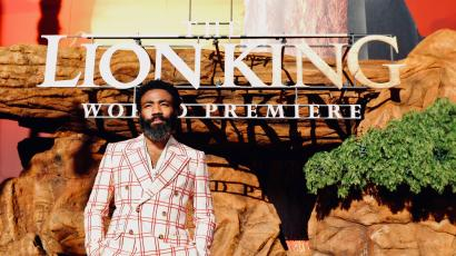 Donald Glover at The Lion King world opening.